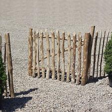 Gartentor aus Haselnuss Holz Zauntor Hoftor Gartentür Pforte B-120cm H-90cm