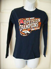 Denver Broncos Kids Large- XL AFC WEST Division Champions 2013 Womens Small 2 4
