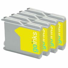 4 Amarillo Cartuchos de tinta para Brother LC970Y & LC1000Y non-OEM / Compatible