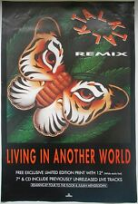 TALK TALK Living In Another World Rare Original 1986 UK Record Company POSTER