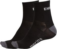 Endura BaaBaa Merino Socks 2 Pack / Black Size L-XL Free P&P UK Seller