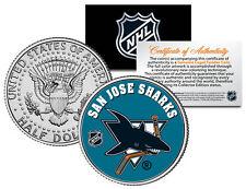 San Jose Sharks Nhl Hockey Jfk Kennedy Half Dollar U.S. Coin * Licensed *