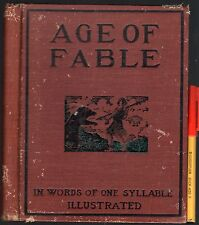 VERY RARE 1905 Adult Child ONE SYLLABLE learn to READ AGE of FABLE H'cov GC 97pg