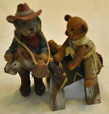 "Sarahs Attic Rabbit Figurine 1994 ""Pop, Toby & Giddyup"""