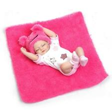 10''miniReborn Baby Girl Dolls Soft Silicone Full Body Vinyl Realistic Xmas Gift