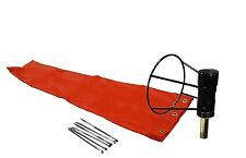 "Airport Windsock Corporation 8"" X 36"" Orange Windsock and 8"" Ball Bearing Frame"