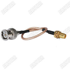 """5x Rp-Sma female jack to Bnc male plug straight pigtail cable Rg316 15cm/6"""""""