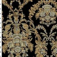 Brown/Gray/Multi Floral Jacquard Home Decorating Fabric, Fabric By The Yard