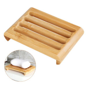 Handmade Perfect Wood Bamboo Soap Dish Tray Case Bathroom  Unique Storage Soaps