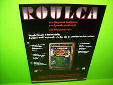 AVG ROULCA Original Vintage Slot Machine Promo Sales Flyer German Text Unique