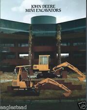 Equipment Brochure - John Deere - 15 25 - Mini Excavator - c1987 (E2377)