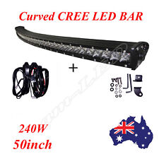 Slim CREE LED Light Bar 50Inch 240W Combo Spot Flood Beam Work Offroad Truck 4WD