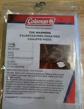 4 pack Coleman Toe Warmers Open, shake & get warm Outdoor camping winter ski New