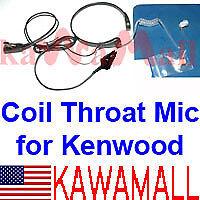 Coil Throat Mic for Kenwood TK-280 TK-2140 TK380/390