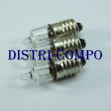 Ampoule E10 Halogen 27.7x9.2mm 2.8V 850mA 2.4W (lot de 3 ampoules)