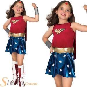 fille de luxe Wonder Woman années 80 SUPER HÉROS Enfants Costume déguisement