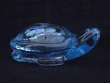 Oneida Crystal Turtle Blue Paperweight Aquamarine New In Box light blue