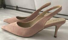 Neiman Marcus Pink Suede Slingback Heels - Size 9M