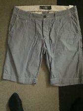 Mens Casual Shorts , Blue White Stripe , 34W .H&M