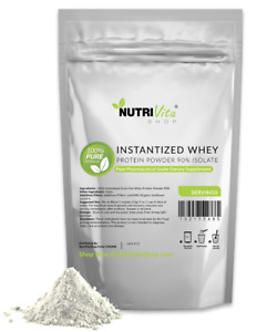 2X 2LB (4LB) 100% Pure Organic Instantized Whey Protein Isolate 90% Unflavored