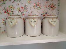 Original Handmade & Hand Painted wooden tea coffee sugar jar tags 'check design'