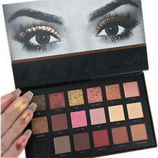 18 Colors Matte Eyeshadow Rose Gold Textured Eyeshadow Palette Cosmetics