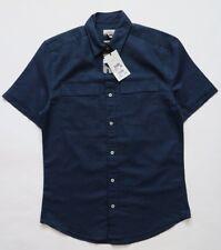 Men`s Next Shirts Linen Blend Short Sleeve Size XSmall