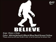 Big foot believe sasquatch  Funny Reflective Car Truck Boat sticker Best Gift-