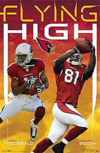 Vintage Original 2007 Arizona Cardinals LARRY FITZGERALD ANQUAN BOLDIN Poster
