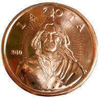 American Indian Lakota Bullion Coin Rounds 999 Copper 1 Oz. Stunning Pure Metal