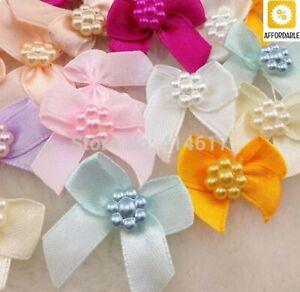 Flowers Bows Mini Satin Ribbon Polyester Cotton Gift Craft Wedding Decorations