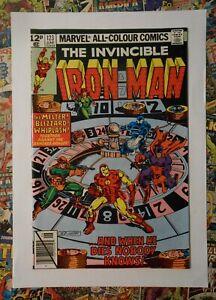 IRON MAN #123 - JUN 1979 - WHIPLASH APPEARANCE! - NM (9.4) PENCE COPY!