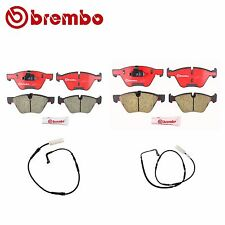 BMW E90 325i 328i Front and Rear Disc Brake Pads with Sensors Brembo NEW