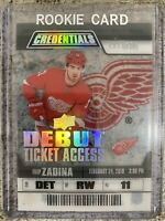 2019-20 CREDENTIALS FILIP ZADINA DEBUT TICKET ACCESS CLEAR ACETATE /299 RTA-15