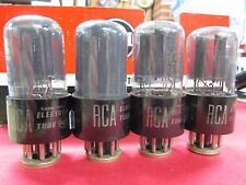 Rca Set of Four Older 6Sn7Gt Gray Glass Vacuum Tubes Matched!