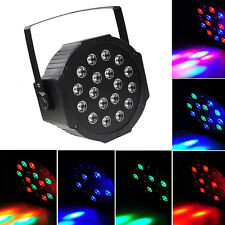Par Can 18 RGB LED Stage Light Disco DJ Bar Effect UP Lighting Show DMX Strobe