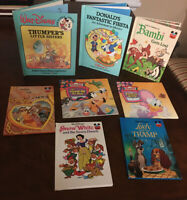 Lot Of 8 Vintage Children's Disney Books Snow White- Bambi Gets Lost -Toontown