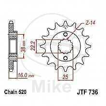 JT Ritzel 13 Zähne Teilung 520  / 736.13 JT Sprockets