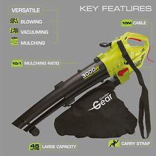 Garden Gear Electric Leaf Blower Vacuum Shredder Mulcher 45L 3-in-1 3000W 10M