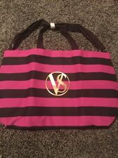 victorias secret tote bag Zip Top Pink And Navy Rare Cute New In Package