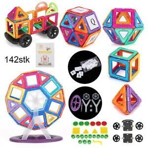 Magnetische Bausteine Magnet Spielzeug für Kinder Lernspielzeug Spiel 142tlg
