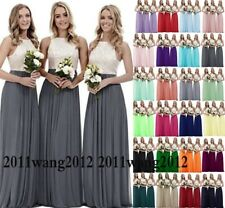 Lace/Long Formal Wedding Evening Ball Gown Party Prom Bridesmaid Dress Size 6-26