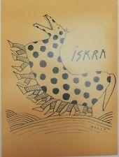 """""""ISKRA"""" Affiche originale entoilée sérigraphie FOLON 1976  47x63cm"""
