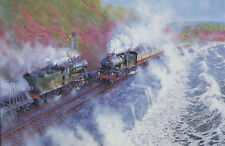 GWR County Castle Class Devon Engine Steam Locomotive Train Birthday Card