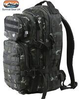 BTP Black 28 ltr Military Assault Pack Rucksack
