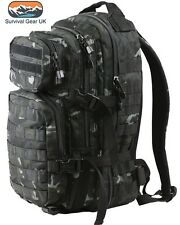 BTP Black 28 ltr Military Assault Pack Rucksack