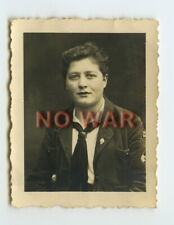 Wwii Original German Photo Girl From Bdm In Uniform 2