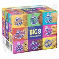 Hill Biscuit Big 8 Family Favourites Selection Varieties Packets Cookies 2.2Kg
