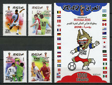 Iraq 2018 MNH FIFA World Cup Football Russia 2018 4v Set + 1v Impf M/S Stamps