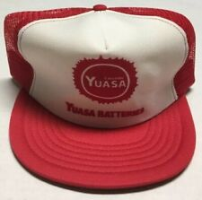 Vtg Yuasa Batteries Trucker Hat Battery Manufacturing Cap Cars Made In The USA